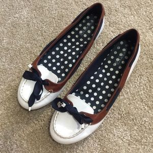 Sperry Top sider leather accent flats!
